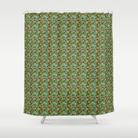hiking Shower Curtains featuring Hiking Tune by Bob Greenwade
