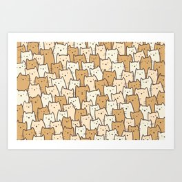 Cats on Cats on Cats Art Print