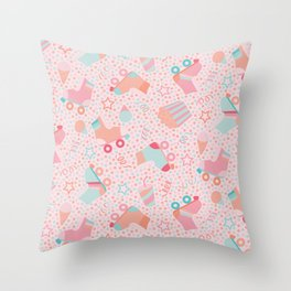 Roller Skate Birthday Party Throw Pillow