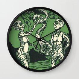 Alien Adam and Eve Wall Clock