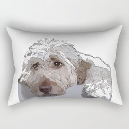 Shaggy Dog Rectangular Pillow