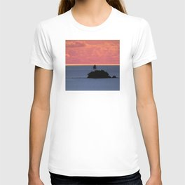 Solitary South Pacific Island At Sunset T-shirt