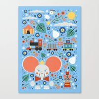 dumbo Canvas Prints featuring Dumbo by Carly Watts