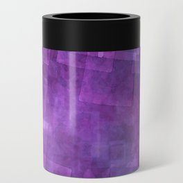 Abstract Purple Squares Digital Painting Can Cooler