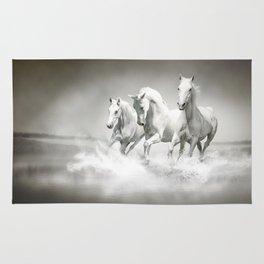 Wild White Horses Rug