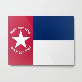 North Carolina Secession Flag Metal Print
