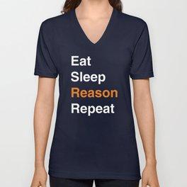 Eat Sleep Reason Repeat Unisex V-Neck