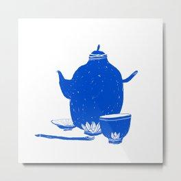 Tea Set Metal Print