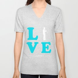 CLARINET LOVE Unisex V-Neck