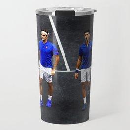 Federer and Djokovic Doubles Travel Mug