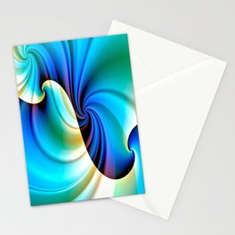 Part of a Wave (blue-cream) Stationery Cards