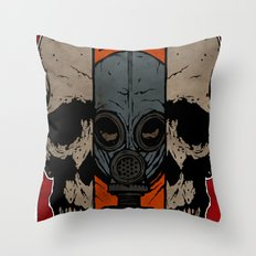Split Skull Throw Pillow