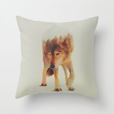 Norwegian Woods: The Grey Wolf Throw Pillow