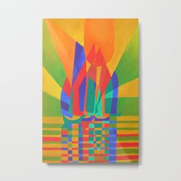 Dreamboat - Cubist Junk In Primary Colors Metal Print