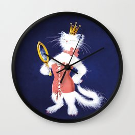 Cat Wearing Pink Corset Wall Clock