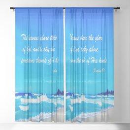 Psalm 19 Sheer Curtain