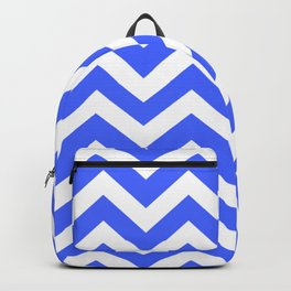 Neon blue - turquoise color - Zigzag Chevron Pattern Backpack