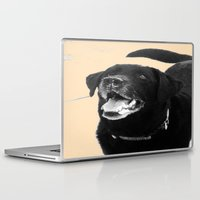 labrador Laptop & iPad Skins featuring Labrador Happy by Jennifer Warmuth Art And Design