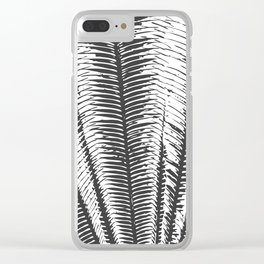 Black and White Modern Tropical Palm Fronds Clear iPhone Case