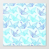 origami Canvas Prints featuring Origami by StudioBlueRoom