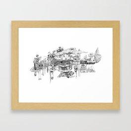 This Is Your Gun On Drugs Framed Art Print