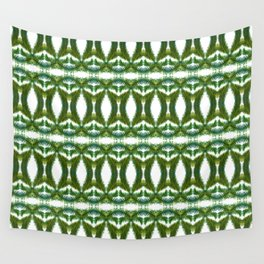 Palm Leaf Kaleidoscope (on white) #2 Wall Tapestry