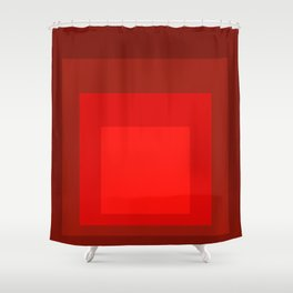 Block Colors - Reds Shower Curtain