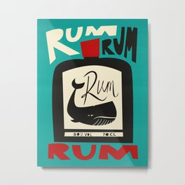 The Ocean Rum Whale  Metal Print