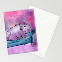 animals in chairs #9 variations on a theme Hippo Stationery Cards
