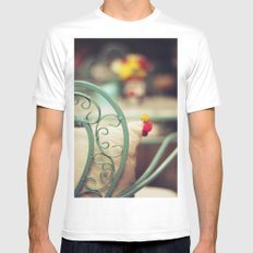 The chair and the pillow White MEDIUM Mens Fitted Tee