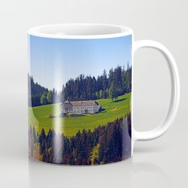 A farm, blue sky and some panorama | landscape photography Coffee Mug