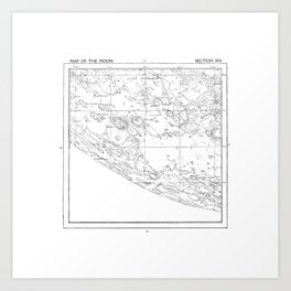 Map of the Moon (set 1/3) Art Print