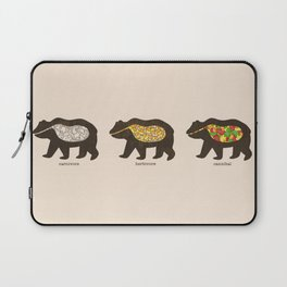 The Eating Habits of Bears Laptop Sleeve