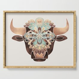 Flower Bull Serving Tray
