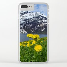 Mountains in spring Clear iPhone Case