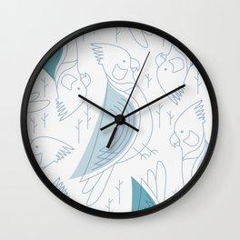Minimalist Cockatiel Wall Clock