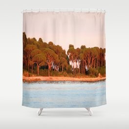 Sunset Over The Lerins Islands Shower Curtain
