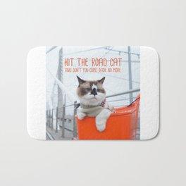Cat - Hit the road Cat Bath Mat