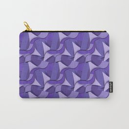 Ultra Violet Abstract Waves Carry-All Pouch