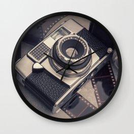 Vintage Camera and Film III Wall Clock