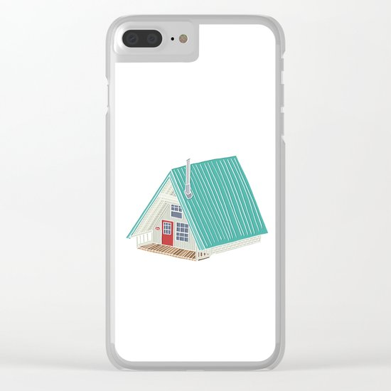 Little A Frame Cabin Clear iPhone Case