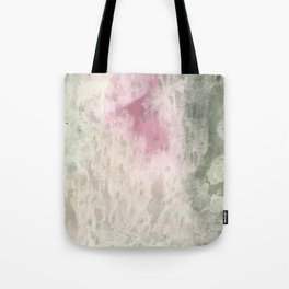 Vintage pink green ivory abstract watercolor pattern Tote Bag