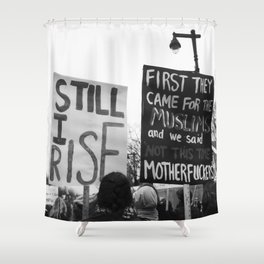 women's march philly Shower Curtain