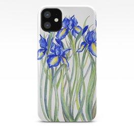 Blue Iris, Illustration iPhone Case