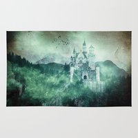 fairytale Area & Throw Rugs featuring The dark fairytale by UtArt
