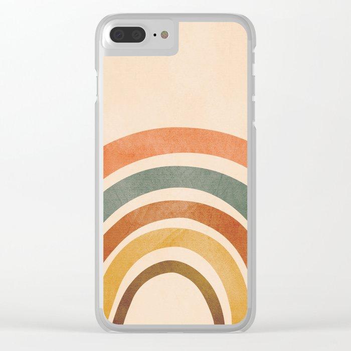 Retro Rainbow Clear iPhone Case