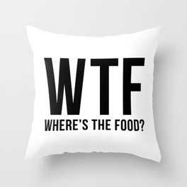 WTF Throw Pillow