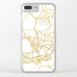 SHENZHEN CHINA CITY STREET MAP ART Clear iPhone Case