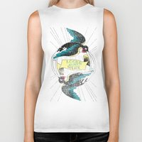 swallow Biker Tanks featuring Swallow by Chiara Sgatti