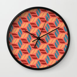 Cheerful Geo Pattern 2 Wall Clock